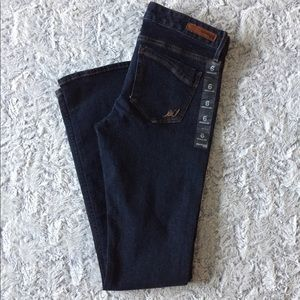 Express Barely Boot Dark Wash Jeans 6R
